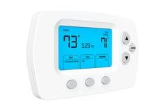 Thermostat de programmation moderne Photos stock