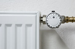 Thermostat de radiateur Photographie stock