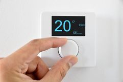 thermostat digital image libre de droits