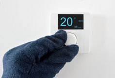 thermostat digital images libres de droits