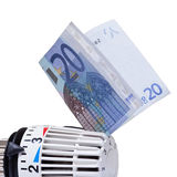 Thermostat with 20 euro. Stock Image