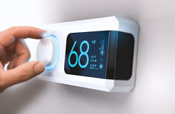 Free Thermostat, Home Energy Saving Royalty Free Stock Photos - 80201458