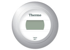 Thermostat illustration. Vector illustration of a common thermostat Royalty Free Stock Photography