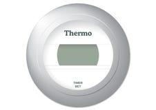 Thermostat illustration. Vector illustration of a common thermostat royalty free illustration