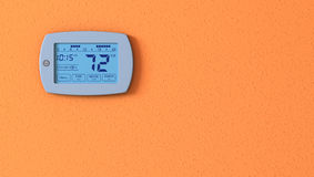 Thermostat panel Royalty Free Stock Photo