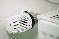Thermostat on radiator Royalty Free Stock Image