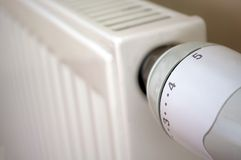 Thermostat on radiator Stock Image