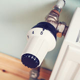 Thermostatische radiatorklep Stock Foto