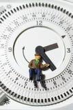 Thermostattimer A des älteren Mannes Lizenzfreies Stockbild