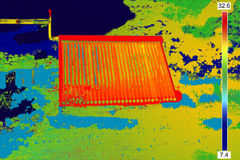 Thermovision image of Vacuum solar Stock Photos
