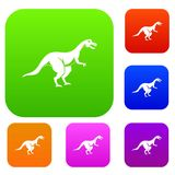 Theropod dinosaur set color collection Stock Photography