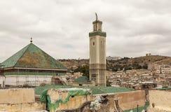 Thes Μαρόκο Άποψη από τη στέγη του παλαιού medina πόλεων Στοκ Εικόνα