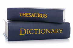 Thesaurus and Dictionary isolated on white Royalty Free Stock Photography