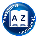 Thesaurus Sign Means Know How And Comprehension Stock Images