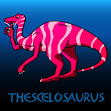 Thescelosaurus cute character dinosaurs Stock Photography