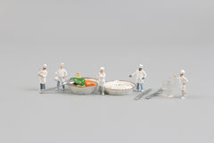 theset of tiny chef with the Hokkaido  curry Stock Image