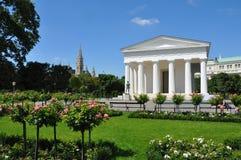 Theseus寺庙volksgarten维也纳,奥地利 库存照片
