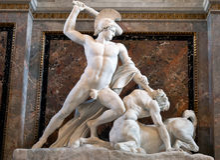 Theseus que luta o Centaur Foto de Stock Royalty Free