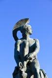 Theseus. Statue at Athens greece Stock Photo