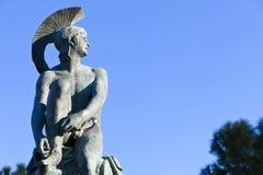 Theseus. Statue at monastiraki greece Stock Photography