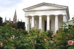 Theseus tempel i Volksgartenen, Wien, Österrike Arkivfoto