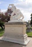 Theseus walczący minotaur, statua Etienne Jules Ramey w fotografia royalty free