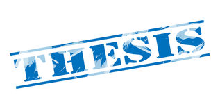 Thesis blue stamp Stock Photo