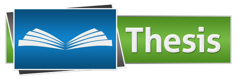 Thesis Text Green Blue Horizontal Royalty Free Stock Photo