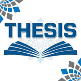 Thesis Text Written Over Abstract Background Stock Photography