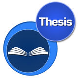 Thesis Two Blue Circles Royalty Free Stock Images