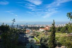 10 03 2018 Thessaloniki, Греция - панорамный взгляд Thessaloniki Стоковая Фотография RF