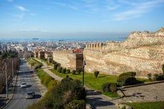 10 03 2018 Thessaloniki, Греция - панорамный взгляд Thessaloniki Стоковое фото RF