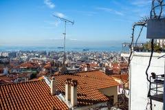 10 03 2018 Thessaloniki, Греция - панорамный взгляд Thessaloniki Стоковая Фотография