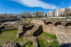 10 03 2018 Thessaloniki, Греция - lo Hamam бейя бани тахты Стоковое Изображение RF