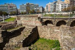 10 03 2018 Thessaloniki, Греция - lo Hamam бейя бани тахты Стоковые Фотографии RF