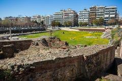10 03 2018 Thessaloniki, Греция - lo Hamam бейя бани тахты Стоковые Фото