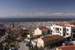 Thessaloniki. City photo from above stock photography