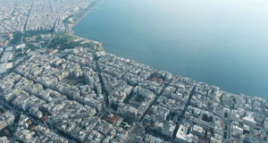 Thessaloniki aerial view Royalty Free Stock Photos