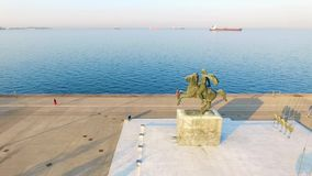 Thessaloniki Alexander Macedonian stock video