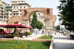 Thessaloniki, the Arch of Roman emperor Galleries Royalty Free Stock Image