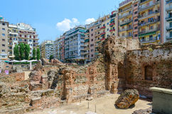 Thessaloniki. Archaeological excavations of palace of Roman Empe Stock Image