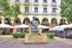 Thessaloniki. Aristotle Sculpture Royalty Free Stock Images