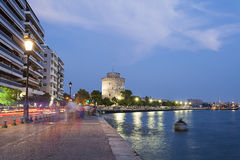 Thessaloniki city, Greece. The white tower , Thessaloniki city in Greece royalty free stock photo