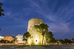 Thessaloniki city, Greece. The white tower , Thessaloniki city in Greece royalty free stock photography