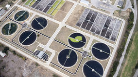 Thessaloniki city sewage treatment plant Stock Photos