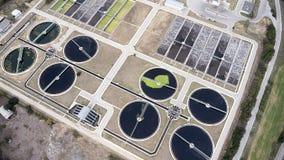 Thessaloniki city sewage treatment plant Stock Photos