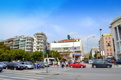 Thessaloniki crossroad Greece Stock Photos