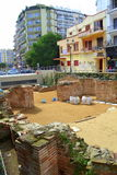 Thessaloniki downtown excavation Greece Royalty Free Stock Photography