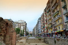Thessaloniki downtown view Stock Images