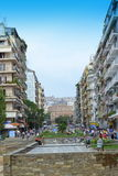 Thessaloniki downtown view Stock Photos